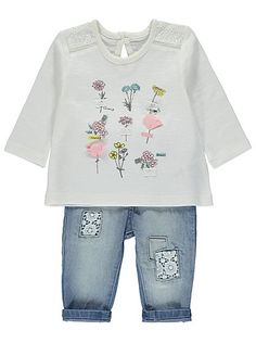Embellished Top and Jeans Set, read reviews and buy online at George at ASDA. Shop from our latest range in Baby. Prettify their everyday outfit collection w...