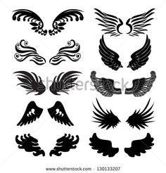 wings set in vector