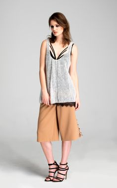 #fashion #culottes #aw #collection #lookbook #photography #fashionphotography #model #camel #white #black #pattern #lines #lingerie #mohair #sweater #mohairsweater #top