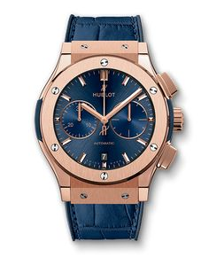Classic Fusion, Blue Chronograph King Gold