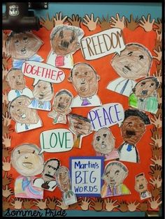 Martin's Big Words - door decoration for Black History Month