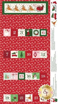 a1 a2 Fabric Christmas 5 X 5 Charms 42