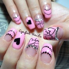 valentine by cynfulnails #nail #nails #nailart
