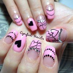 valentine by cynfulnails #nail #nails #nailart