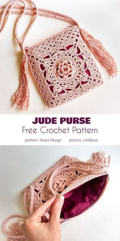 Crochet bags purses 434527064046651682 - Jude Bag Free Crochet Pattern Source by vfrenay Bag Crochet, Crochet Handbags, Crochet Purses, Crochet Crafts, Crochet Clothes, Crochet Projects, Crochet Granny, Crochet Fox, Diy Crafts