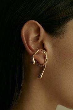 Ear Jewelry, Cute Jewelry, Gold Jewelry, Jewelry Accessories, Jewelry Design, Jewellery, Jewelry Box, Jewelry Hooks, Jewelry Making