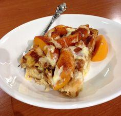 Peaches & Cream French toast casserole