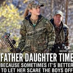 LOVE LOVE LOVE This. So glad that my dad took the time to teach me to hunt.