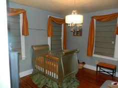 Daniella's Opulent Nursery featuring Bratt Decor's Chelsea Sleigh Crib in Antique Silver by BrattDecorPinterestContest