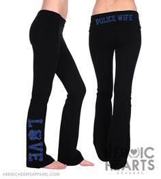 Police Wife Yoga Pants $34