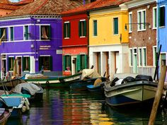 The island of Burano, Italy. So unique, so colorful, and so beautiful. It's a 45 minute boat ride outside of Venice.