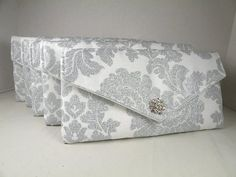 Bridal Pack 5 Envelope Clutches  Delovely by ocstylescreations, $134.96