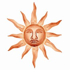 Good Directions Wall Decor Medium Sunface.      Let the sun shine everyday.Bring a little bit of heaven to your earthly home with these attractive wall accents. Radiant solid copper and aluminum pieces of art in Sun, Moon and Star designs will add warmth and charm to the interior or exterior of any home. Each piece is handmade from 100% pure copper.