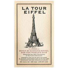 Oblation Papers & Press La Tour Eiffel