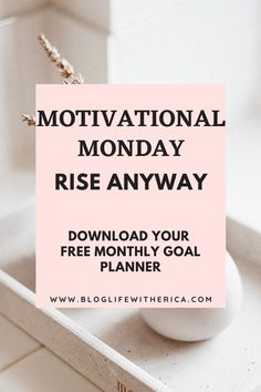 For this week's Motivational Monday I am here to encourage you to rise anyway. And on days when you feel like quitting, remember why you started. As you rise higher to a new level of success there are going to be many people who disapprove. I want you to know that you need to rise anyway. #motivationalmonday #motivation #motivationalquotes #quotes #successmindset #inspiration #motivated #success #successtips #bloglifewitherica