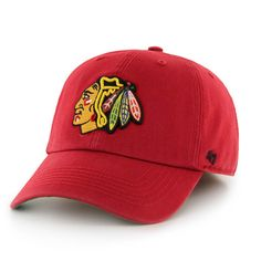 Chicago Blackhawks 47 Brand The Franchise Red Fitted Hat Cap