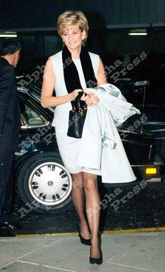 December 11 1995 Diana at Heathrow airport before she departed for New York