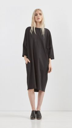 6397 // Dolman Dress in Black