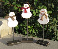 3 Tall Standing SNOWMAN