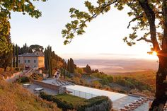 While the Rosewood Castiglion del Bosco hotel closes at the end of November, the 11 secluded villas on its estate – set across 5,000 acres in Val d'Orcia, Tuscany – are open for the first time this year through the winter