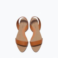 ZARA - NEW THIS WEEK - FLAT LEATHER SANDALS