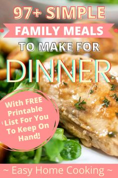100+ Simple Family Meals To Make For Dinner - Realistic Homemaker Supper Recipes, Quick Dinner Recipes, Quick Meals, Chicken Noodle Bake, Turkey Meatball Soup, Bacon Waffles, Hamburger Stroganoff, Beef Lettuce Wraps, Easy Meal Plans