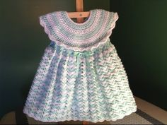 How to Crochet a Baby Dress - Easy Shells - YouTube