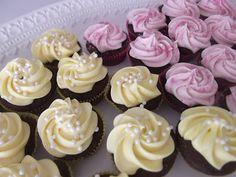 Chocolate Raspberry and Chocolate Lemon Mini Devils Food Cupcakes.