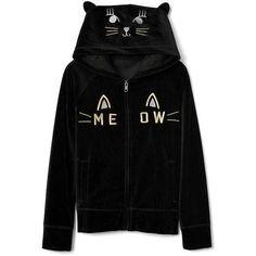 Cat velour raglan zip hoodie | Gap ❤ liked on Polyvore featuring tops, hoodies, zip top, hooded pullover, hooded zip sweatshirt, hooded zipper sweatshirts and cat hoodies