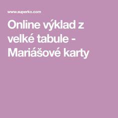 Online výklad z velké tabule - Mariášové karty