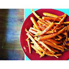 The Whole (30) Shebang: Carrot Fries - I made mine with just olive oil & salt - I didn't turn them, but would next time