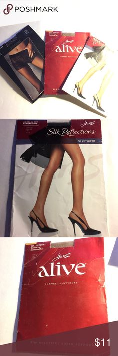 Worn Hanes Pantyhose Silk Reflection 111