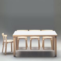 Aalto table, simplicity and durability, perfect for the dining room- maybe a little larger....