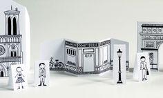 Made by Joel Travel Size Paper City Paris 2 (mini version) Mini Paris, Pop Up, Blog Bebe, Around The World Theme, Paper Art, Paper Crafts, Mint Tins, Paris Party, Thinking Day