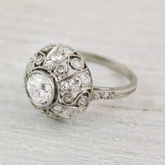 Awesomeness! Antique .75 Carat Edwardian Dome Engagement Ring. $8,350.00, via different and eclectic
