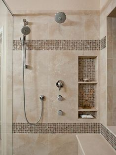 Beautiful Small Bathroom Shower Remodel Ideas - Page 45 of 76 Small Bathroom With Shower, Beige Bathroom, Shower Niche, Bathroom Design Small, Bathroom Ideas, Shower Ideas, Master Bathroom, Bathroom Designs, Shower Designs