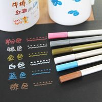 6ks / set Kovové pero farba pen doodle značka pera viacfarebná doodle ...