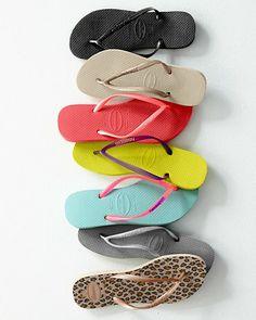 Havaianas Slim Flip-Flops — best flip flops EVER!!!! Never blister, don't break, and last forever!