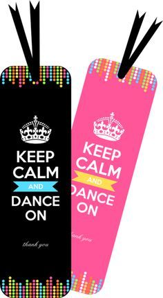 DIY FREE DANCE PARTY THANK YOU BOOKMARKS A small party gift- Download Dance Party Bookmark