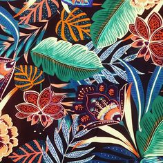 regran from @patterntextilesstudio - It's Friday so we are treating your eyes to a close up of our newest batch of dreamy sarasa prints! #print #pattern #patterntextiles #textiles #sarasa #tropical #batik #surfacedesign #indonesian #art #textiledesign #printdesign #printstudio #design #tropical #colour #color #handdrawn #fashion #illustration #newprints #newcollection #digitalprint #printstudio #fabric #fashion #london #eastlondon #bethnalgreen #surfacespatterns