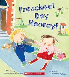 "Books to help your child prepare for starting school: ""Preschool Day Hooray!"" by Linda Leopold Strauss Preschool First Day, Preschool Books, Preschool Classroom, Book Activities, Preschool Ideas, Preschool Prep, Classroom Ideas, Cognitive Activities, Teach Preschool"