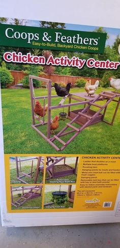 Chicken activity centre #chickencooptips #RaisingChickens