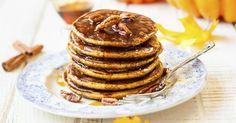 Recette de Pancakes sucrées légères au potiron. Facile et rapide à réaliser, goûteuse et diététique. Ingrédients, préparation et recettes associées.