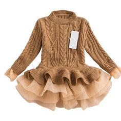 Warm Knitted Toddler Tutu Sweater Dress. Ball Gown DressesParty ... a4a3a589021f