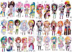 -CLOSED-Rainbow batch by Guppie-Adopts on deviantART