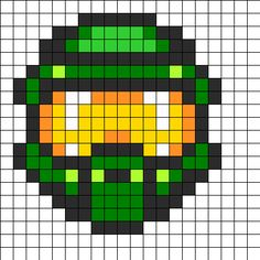 Halo Mask Perler Bead Pattern