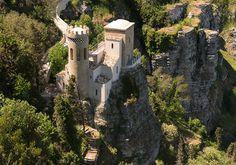 castle-looking church in Eriche, Sicily (Castello Pepoli)