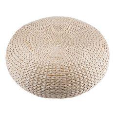 Pouf tressé - Rotin - Ø 40 x 16 cm - Beige 27€