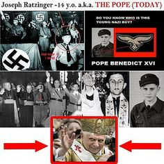 he was a nazi?~~~I knew a guy who had been a nazi but it was when he was young and all youths HAD to enlist in Hitler Youth or else!!  I suppose it was no different with this Pope.