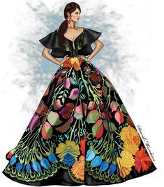 Fouad Sarkis Couture #Digitaldrawing by David Mandeiro Illustrations. #Digitalart #digital #FouadSarkisCouture #Fashion #Wacom